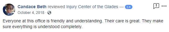 Glades Injury Center Patient Testimonials